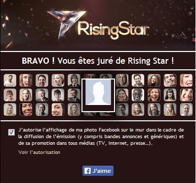 Rising Star : comment voter (application gratuite 6 play).