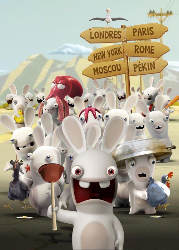 Animation : Les Lapins Crétins à la conquête du monde.