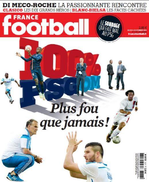 France football : numéro 100% PSG / OM (Marseillais en tête d'un sondage).