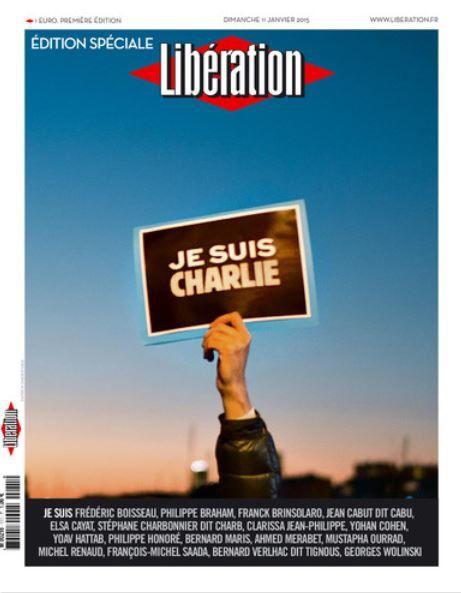 La Une du Libération exceptionnellement sorti ce dimanche.