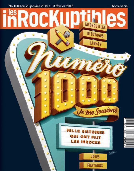 Mercredi, la revue Les Inrockuptibles célèbre son millième numéro.