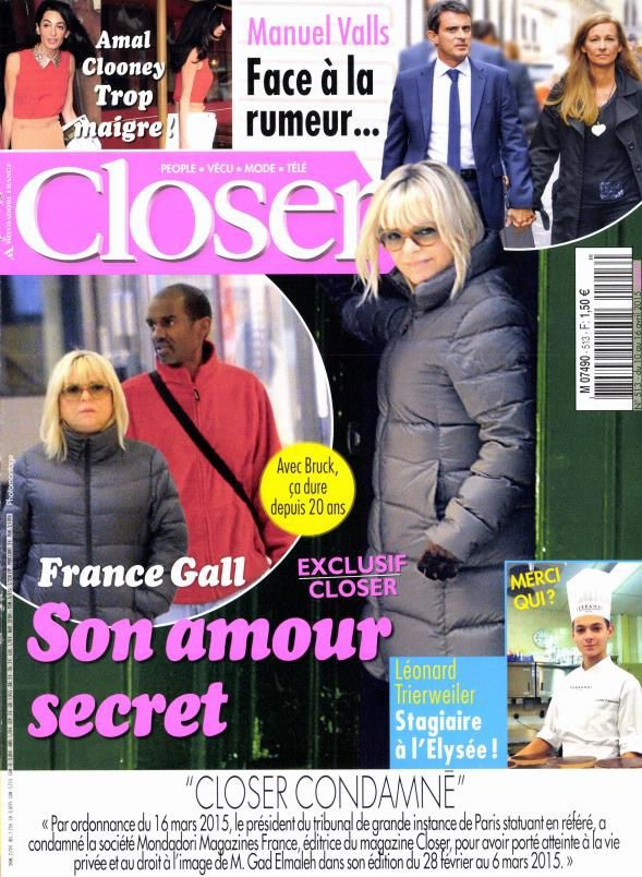La Une de la presse people ce vendredi : Julie Gayet, Jenifer, France Gall.