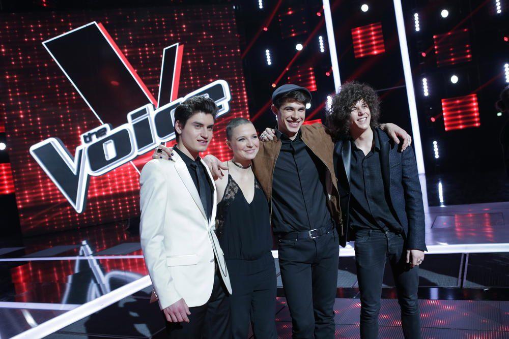 Finale de The Voice avec Julien Doré, Birdy, Kendji Girac, Louane.