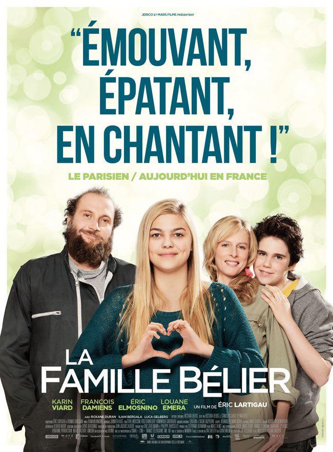 Carton pour le DVD de La famille Bélier.