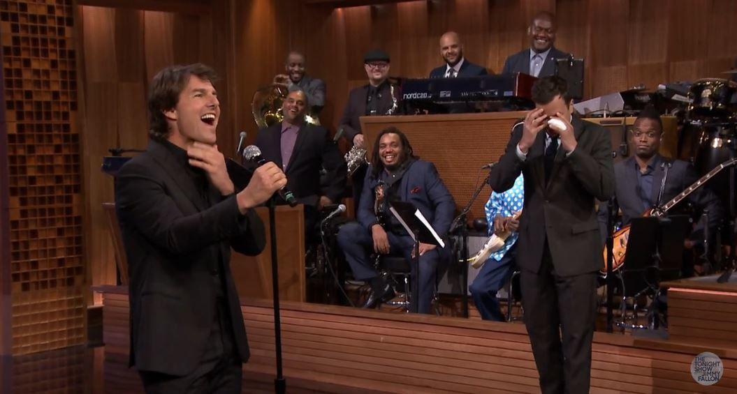 Vidéo de la séquence Lip Sync Battle avec Jimmy Fallon et Tom Cruise.