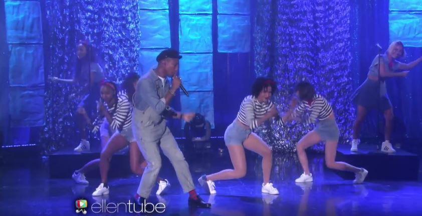 Pharrell Williams interprète Freedom sur le plateau du talk d'Ellen DeGeneres (Vidéo).