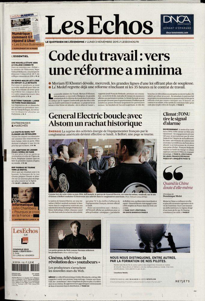 La Une de la presse quotidienne nationale ce 2 novembre.