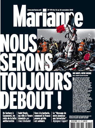 Numéros spéciaux : La Une de L'Express, L'Obs, Marianne ce lundi.
