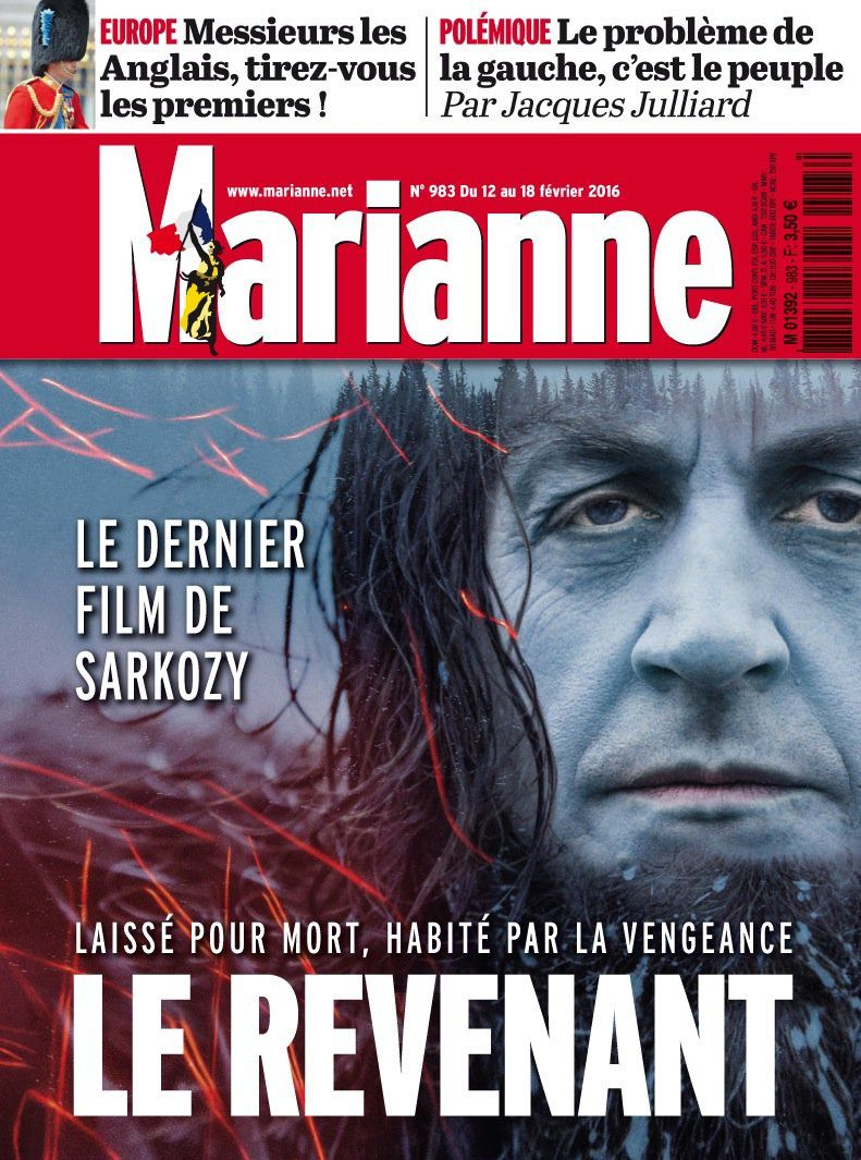Film Le Revenant : la version Sarkozy du magazine Marianne.