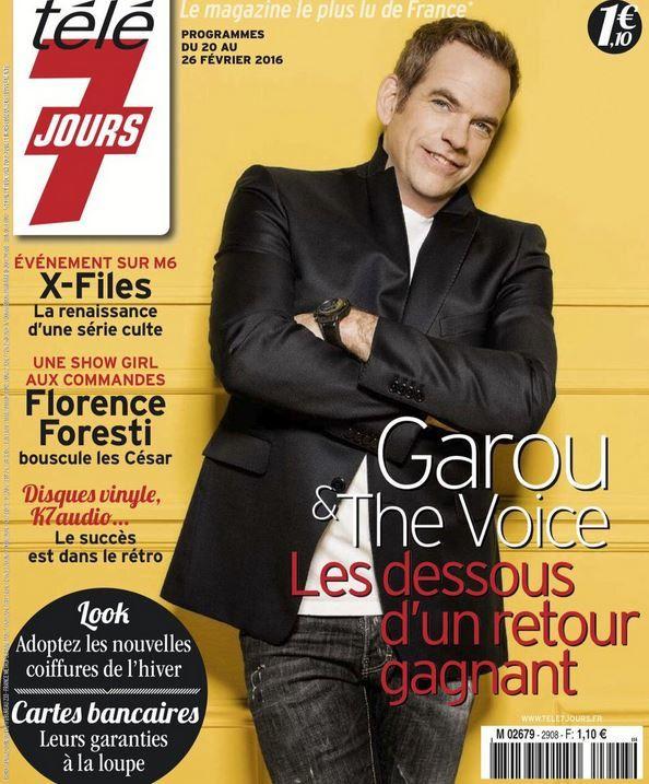 La Une des hebdos TV ce lundi : Garou, Ingrid Chauvin, X Files...
