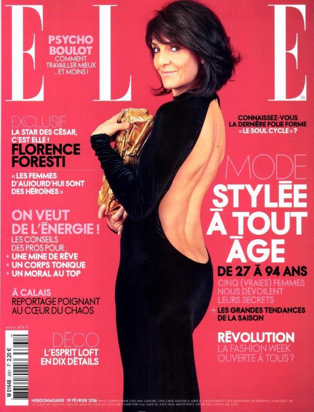 """Florence Foresti version Mireille Darc dans """"Le grand blond"""", pour ELLE."""