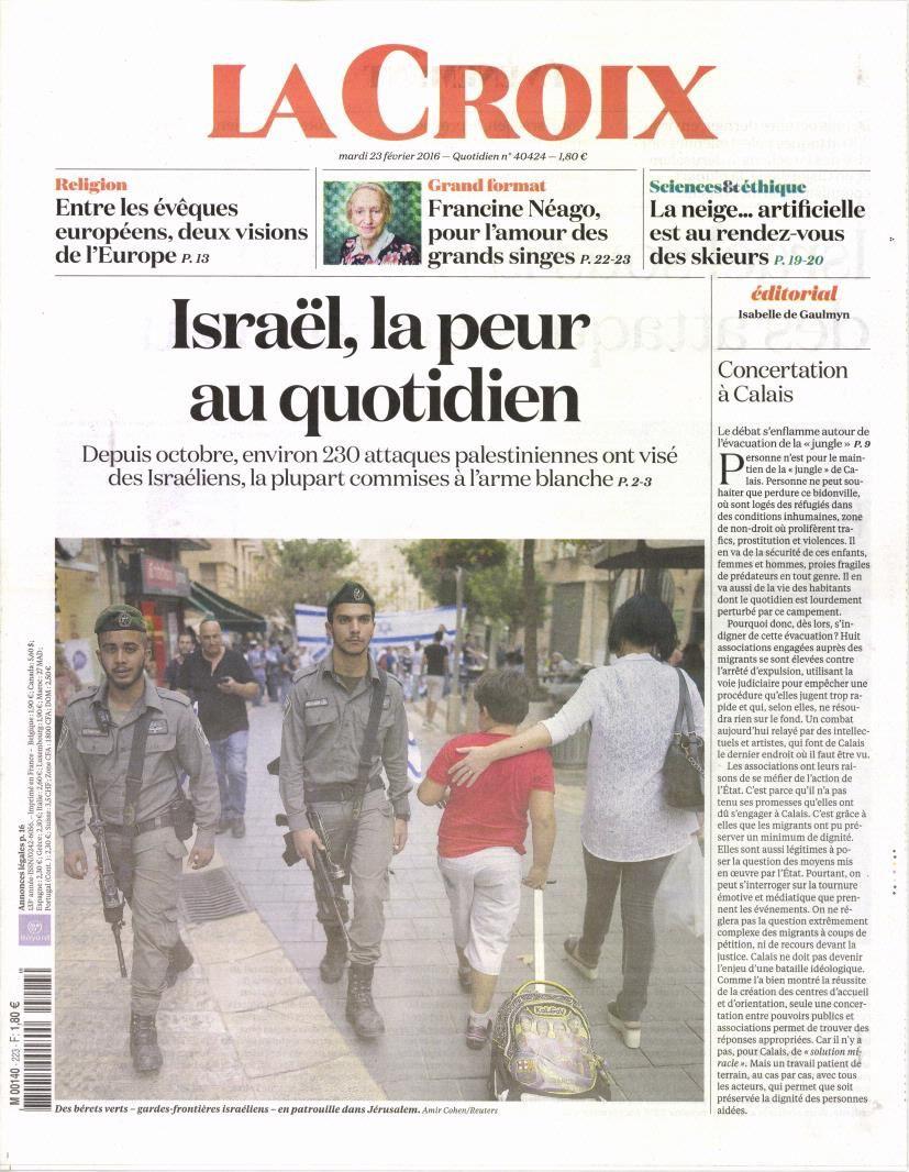 La Une des quotidiens nationaux ce mardi 23 février.