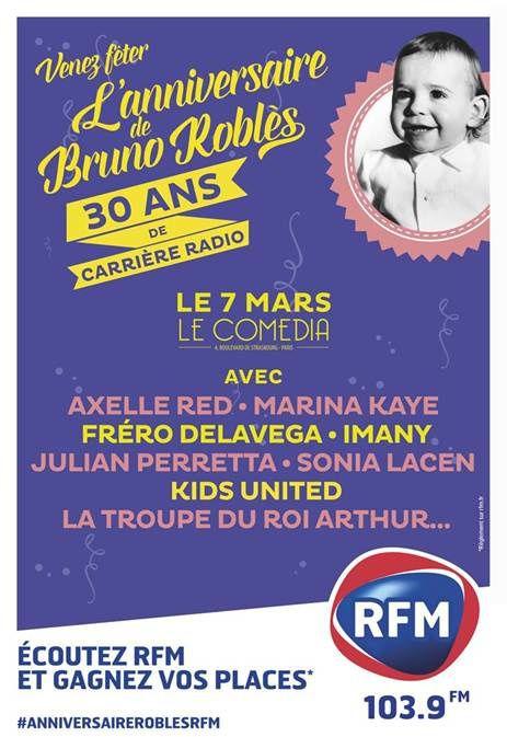 Les 30 ans de radio de Bruno Roblès célébrés ce soir (diffusion le 18 mars).