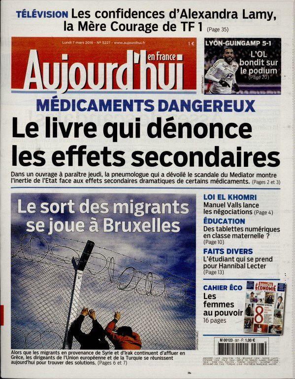 La Une des quotidiens nationaux ce lundi 7 mars.