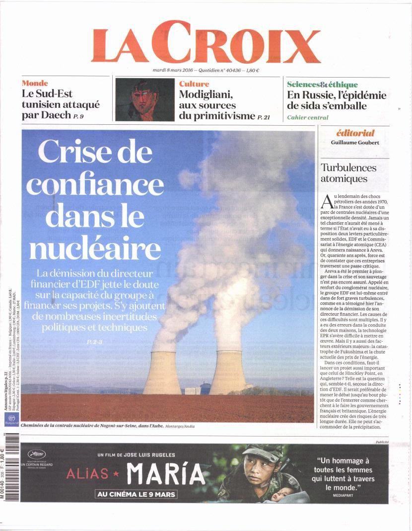 La Une de la presse quotidienne nationale ce mardi.