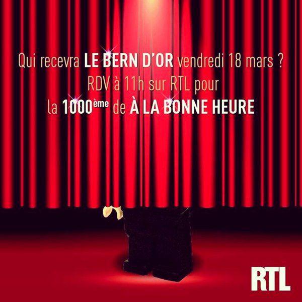 La 1.000ème d'A la bonne heure ce vendredi sur RTL, avec Stéphane Bern.