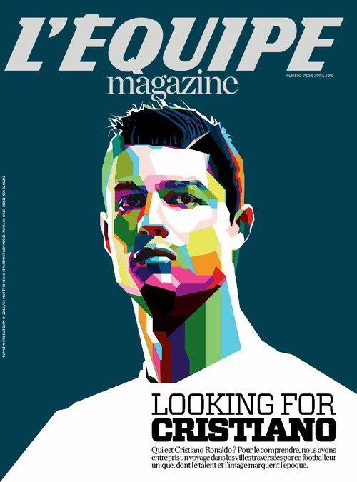 Ronaldo en Une de L'Equipe Mag ce samedi.