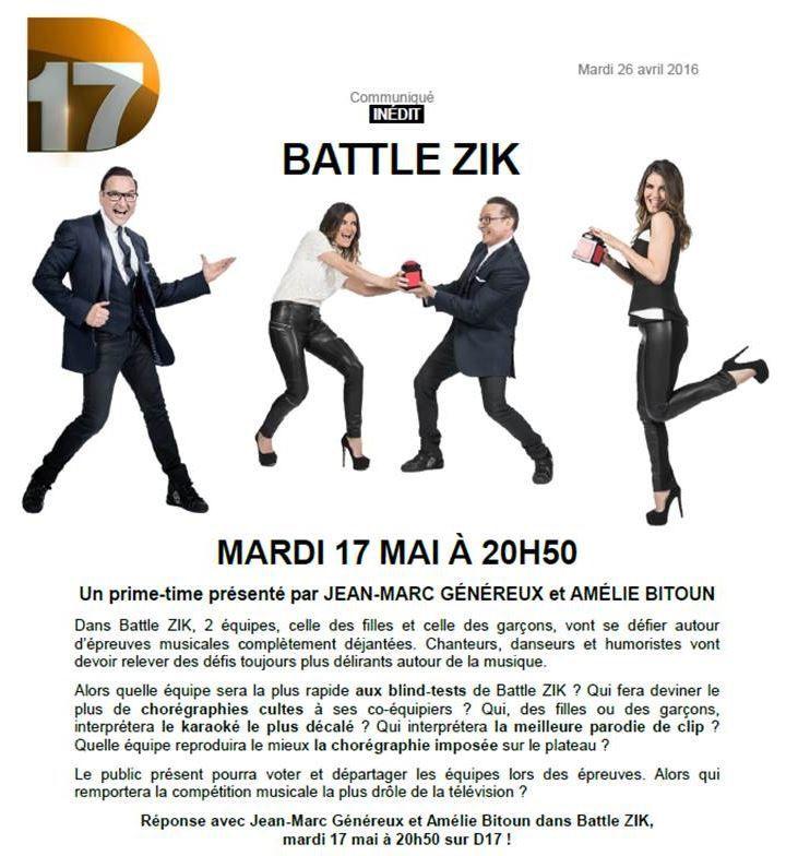 Battle Zik avec Jean-Marc Généreux le 17 mai sur D17.
