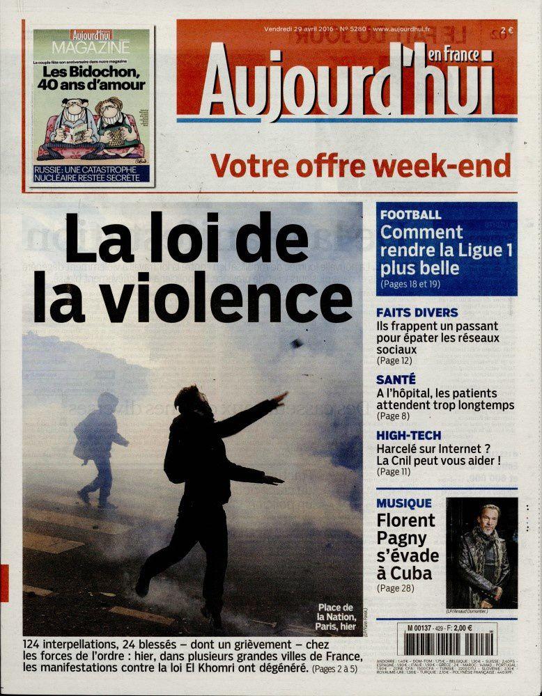 La UNE des quotidiens nationaux ce vendredi 29 avril.