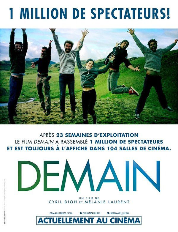 Le documentaire Demain atteint le million de spectateurs en France !