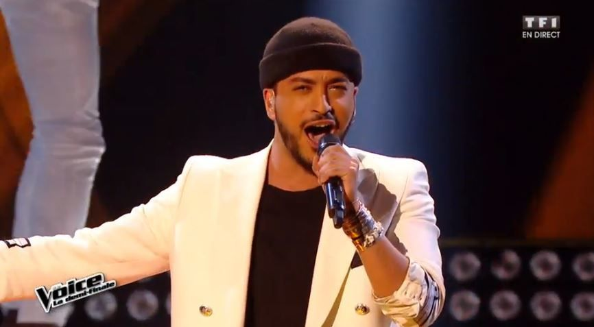 "Revoir la prestation de Slimane en demi-finale de The Voice sur ""I feel good""."