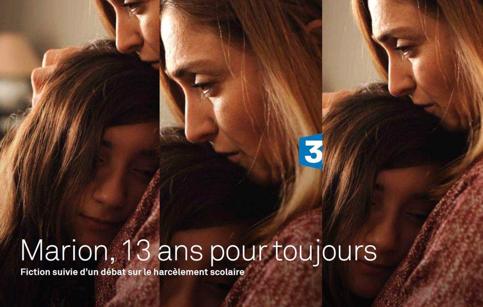 """Très beau bilan à J+7 pour """"Marion, 13 ans pour toujours"""" sur France 3."""