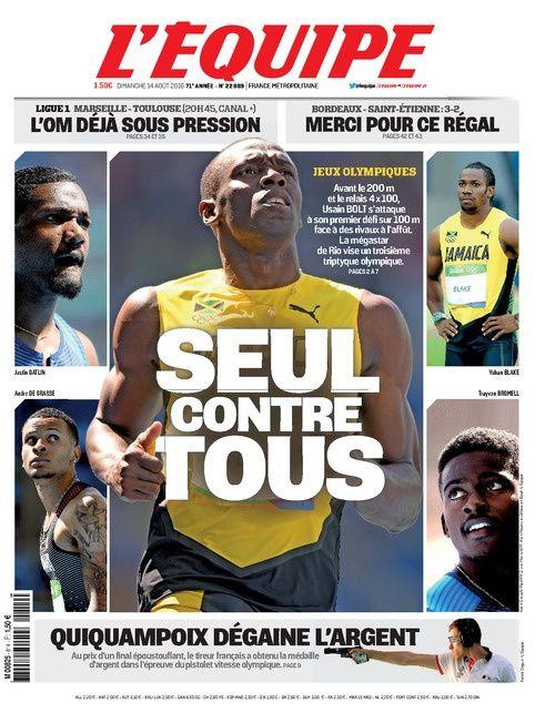 Revoir la finale du 100 mètres remportée par Usain Bolt (vidéo).