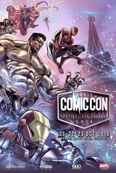 Le Comic Con Paris 2016 dévoile son affiche, signée Marco Checchetto.