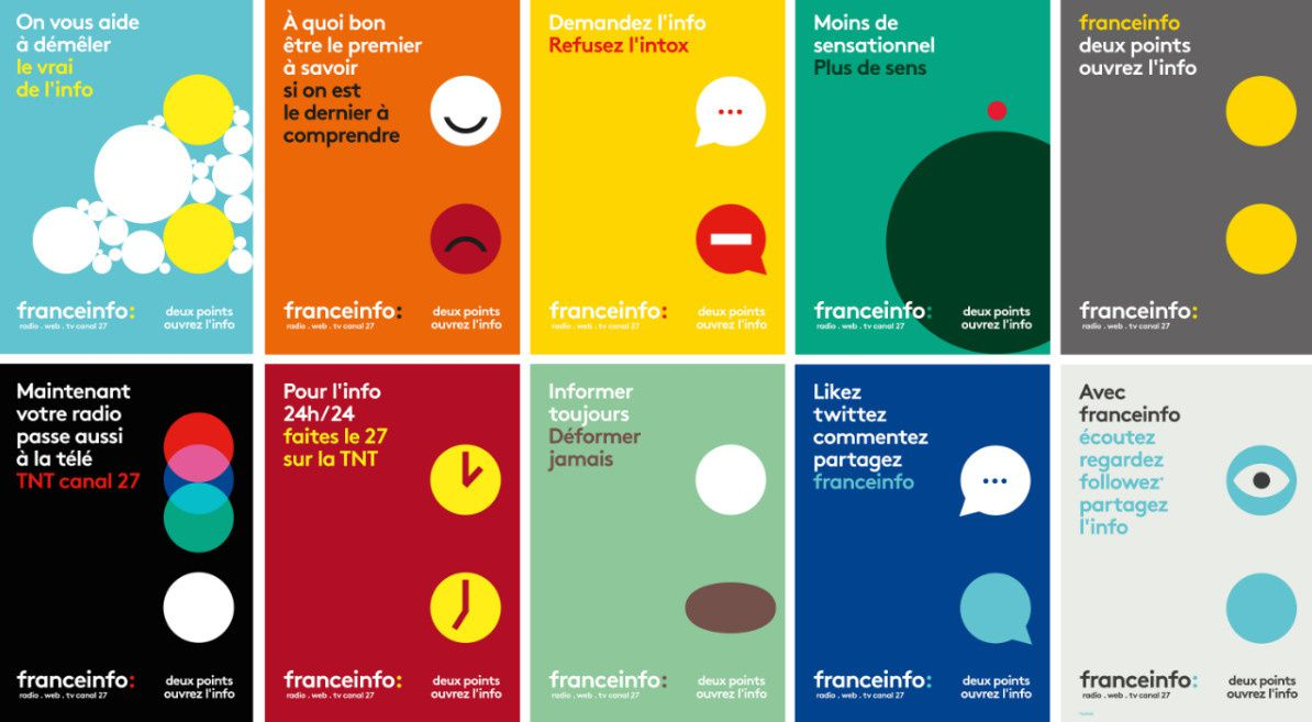 Découvrez les affiches de la campagne publicitaire de franceinfo.