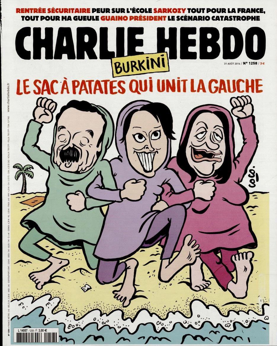 """Plenel, Vallaud-Belkacem et Duflot """"à l'honneur"""" en Une de Charlie Hebdo."""