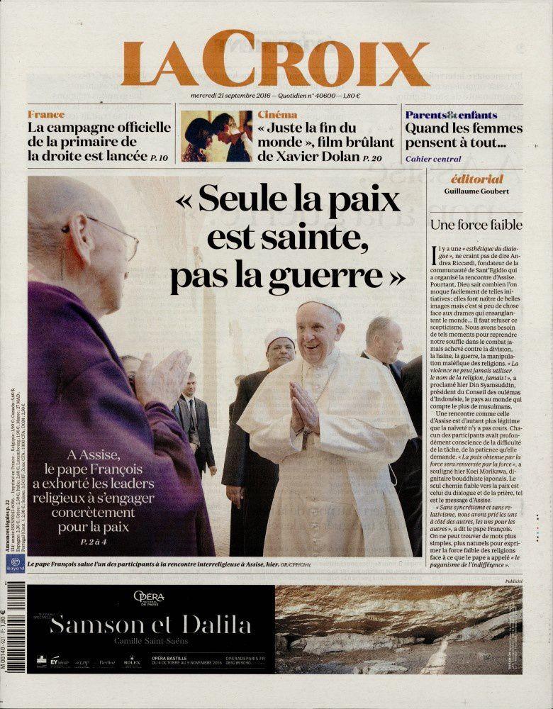 La Une des quotidiens nationaux ce mercredi 21 septembre.