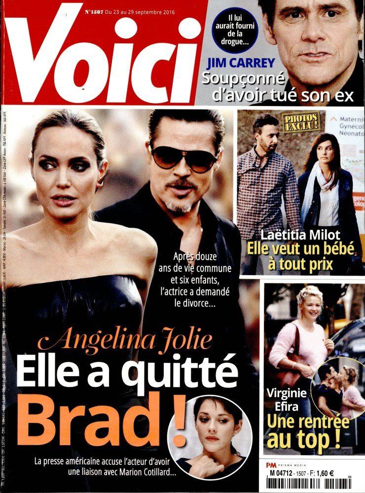 Brad Pitt, Angelina Jolie et Marion Cotillard en Une de la presse people ce vendredi.