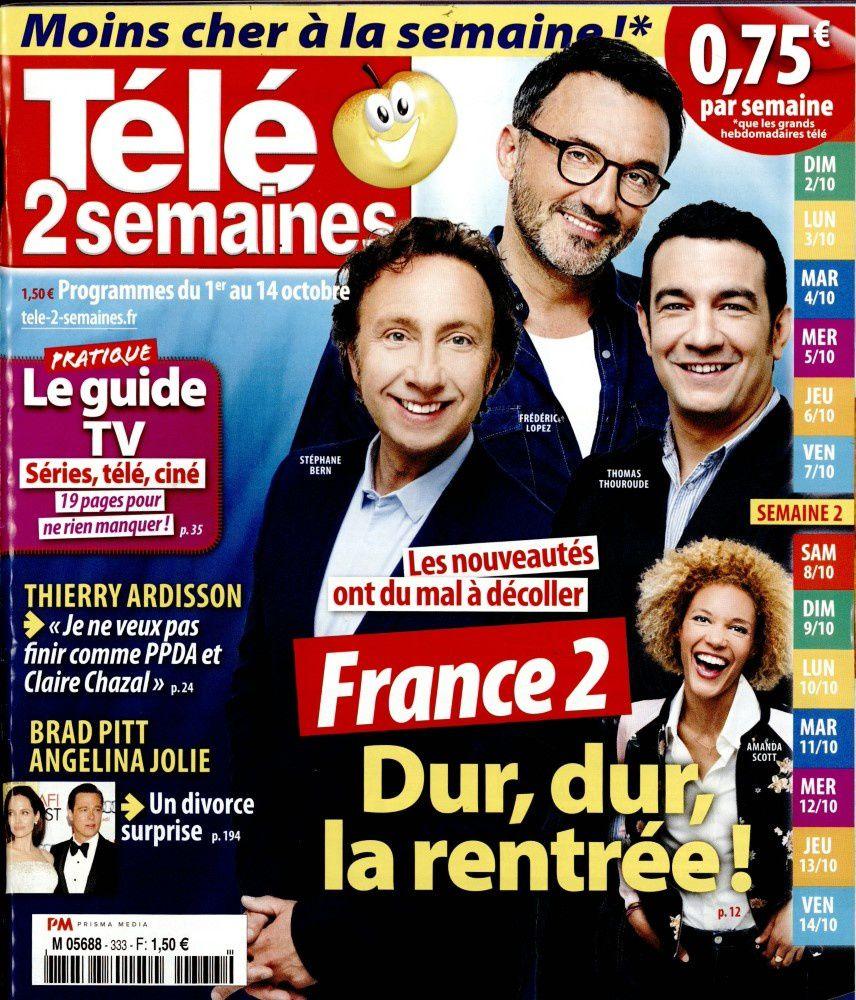 La Une des hebdos TV ce lundi : Karine Le Marchand, Patrick Dempsey, Céline Dion...