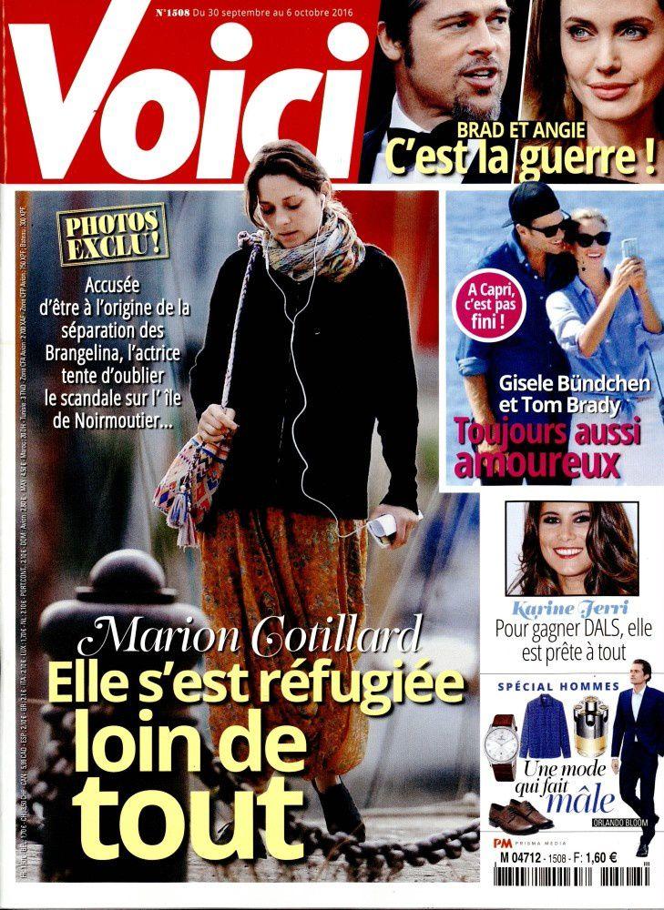 """""""A l'honneur"""" dans la presse people ce vendredi : Cotillard, Marceau, Morandini."""