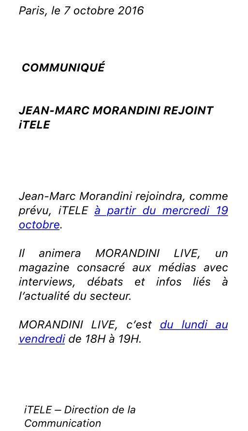 """""""Morandini Live"""" (no comment...)"""