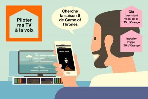 OLA, un service d'assistance vocale pour piloter la TV d'Orange à la voix.