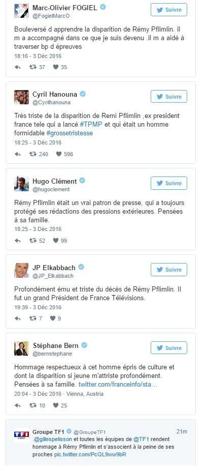 Le communiqué de France Télévisions suite au décès de Rémy Pflimlin.