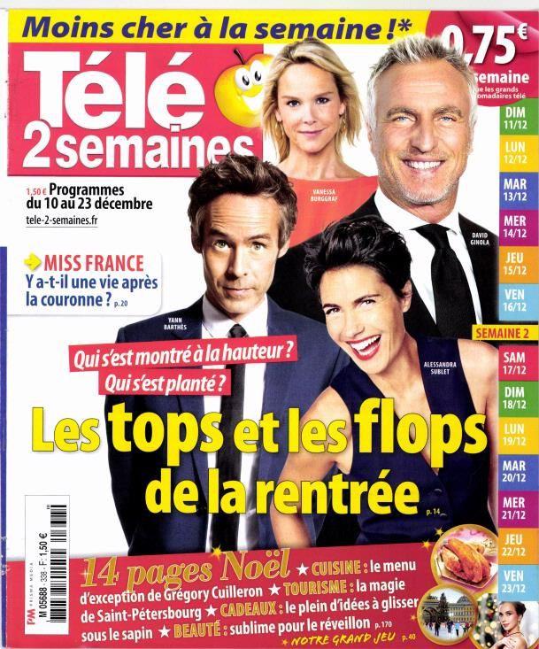 La Une des hebdos TV cette semaine : Hèlène, Reichmann, Koh-Lanta...