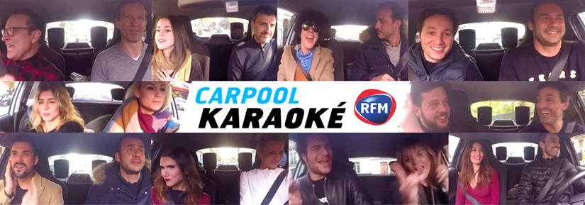 """Découvrez le très sympathique """"Carpool Karaoké"""" RFM avec une vingtaine d'artistes."""
