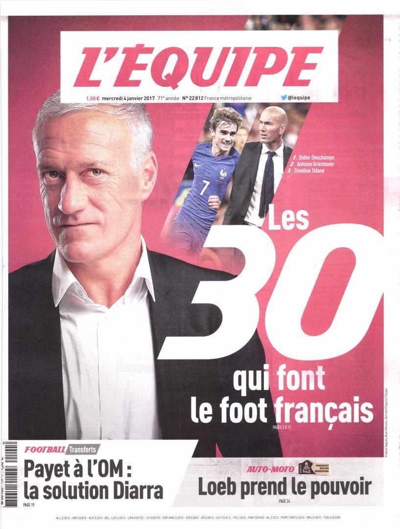 Les 30 qui font le football français : Didier Deschamps en tête du classement.