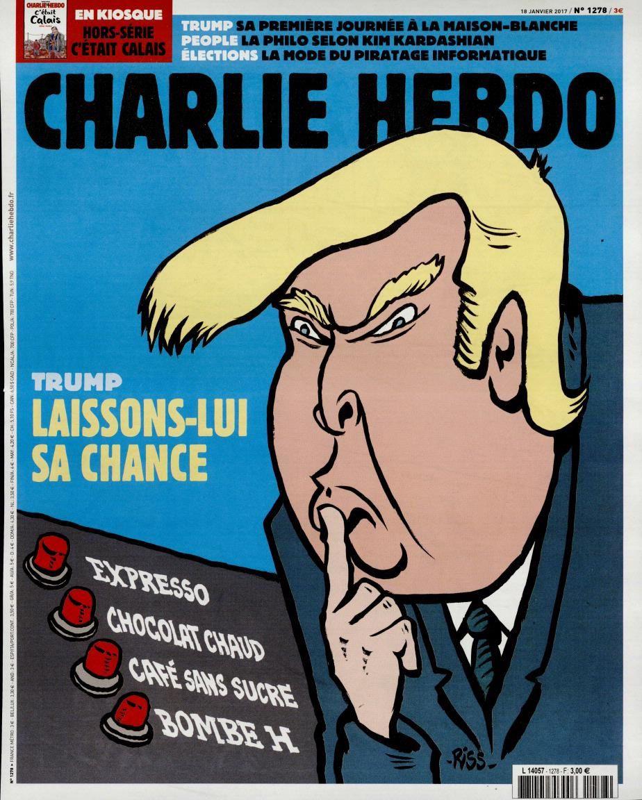 La Une de Charlie Hebdo, par Riss, ce mercredi 18 janvier.