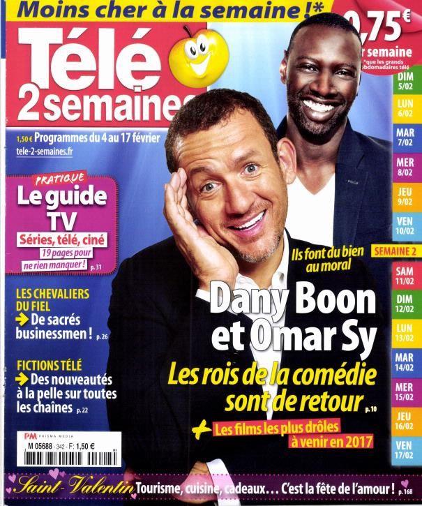 La Une des hebdomadaires TV ce lundi : Dany Boon, Boccolini, Bürki...