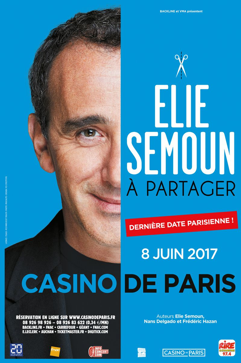 Spectacle d'Elie Semoun en direct sur W9 ce jeudi 8 juin.