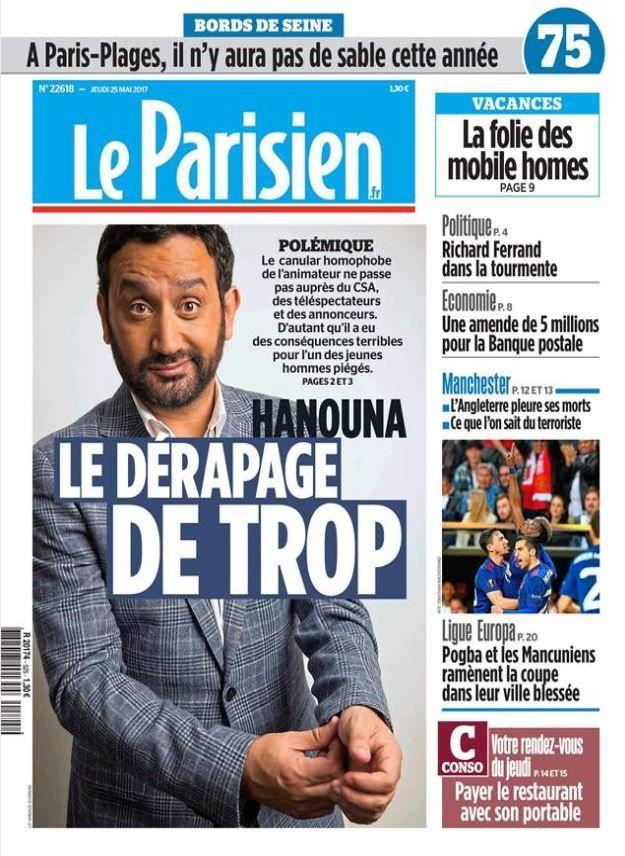 """Ce jeudi, l'édito du Parisien cible Cyril Hanouna qui """"abuse de l'indécence""""."""