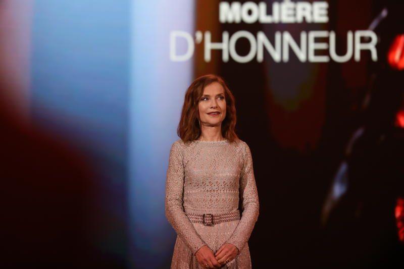 Le Molière d'Honneur d'Isabelle Huppert lundi soir (Vidéo).