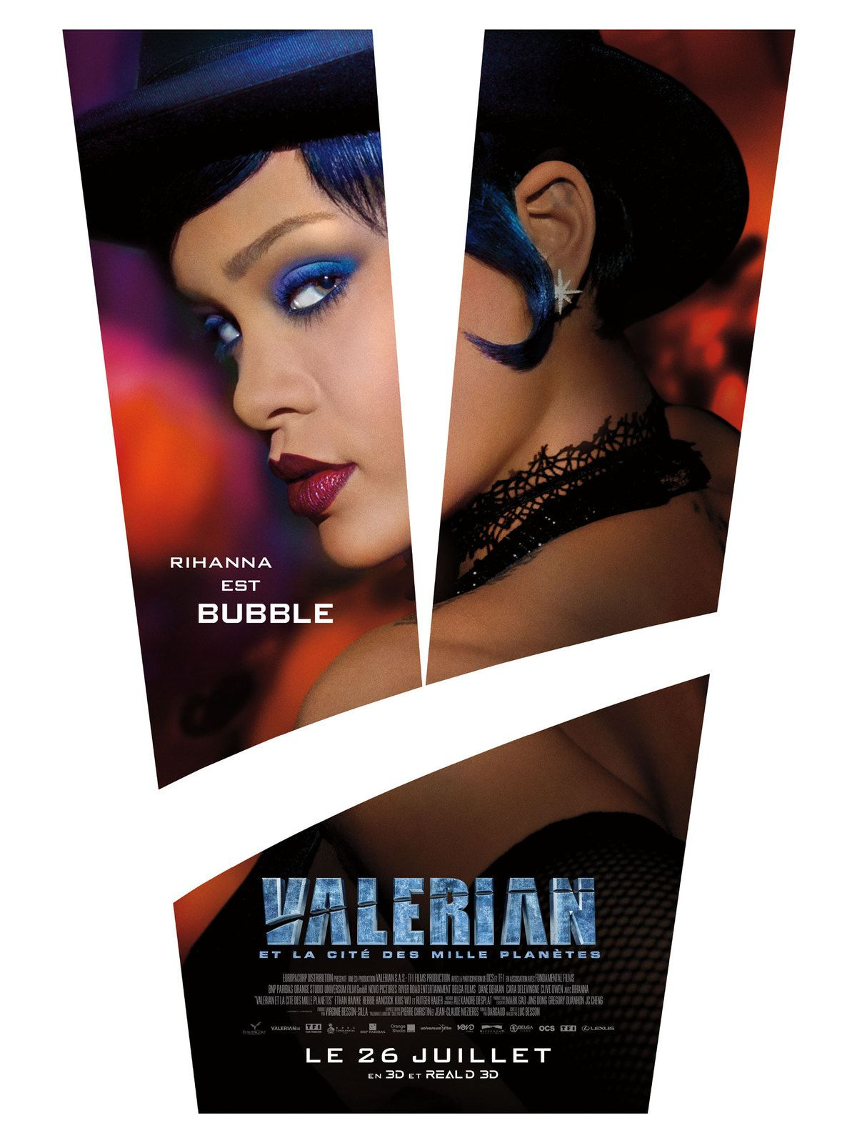 Nouveau teaser vidéo du film Valérian, avec Rihanna.