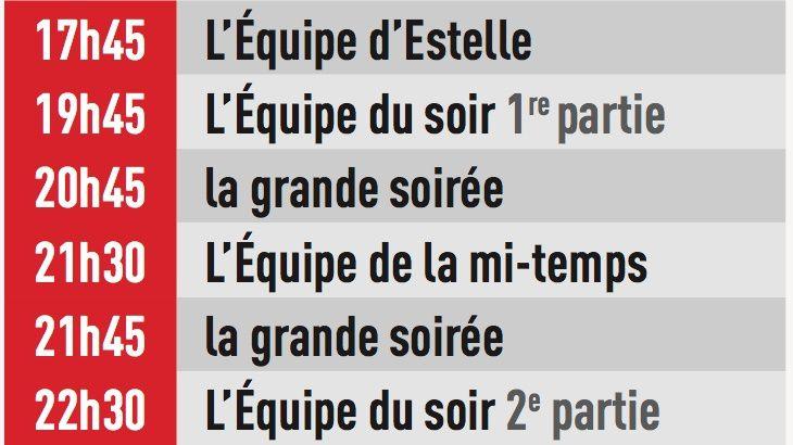 Ligue des champions : soirées spéciales sur L'Equipe mardi et mercredi.