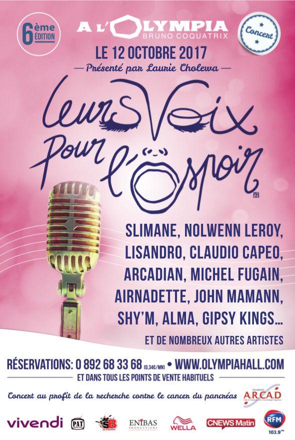 Le concert caritatif Leurs Voix Pour l'Espoir, à l'initiative de Laurie Cholewa, diffusé ce soir.