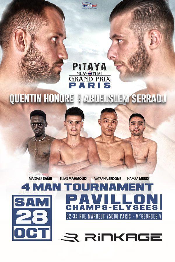 Un show mêlant boxe thai et kickboxing à Paris, diffusé le 2 novembre sur L'Equipe.