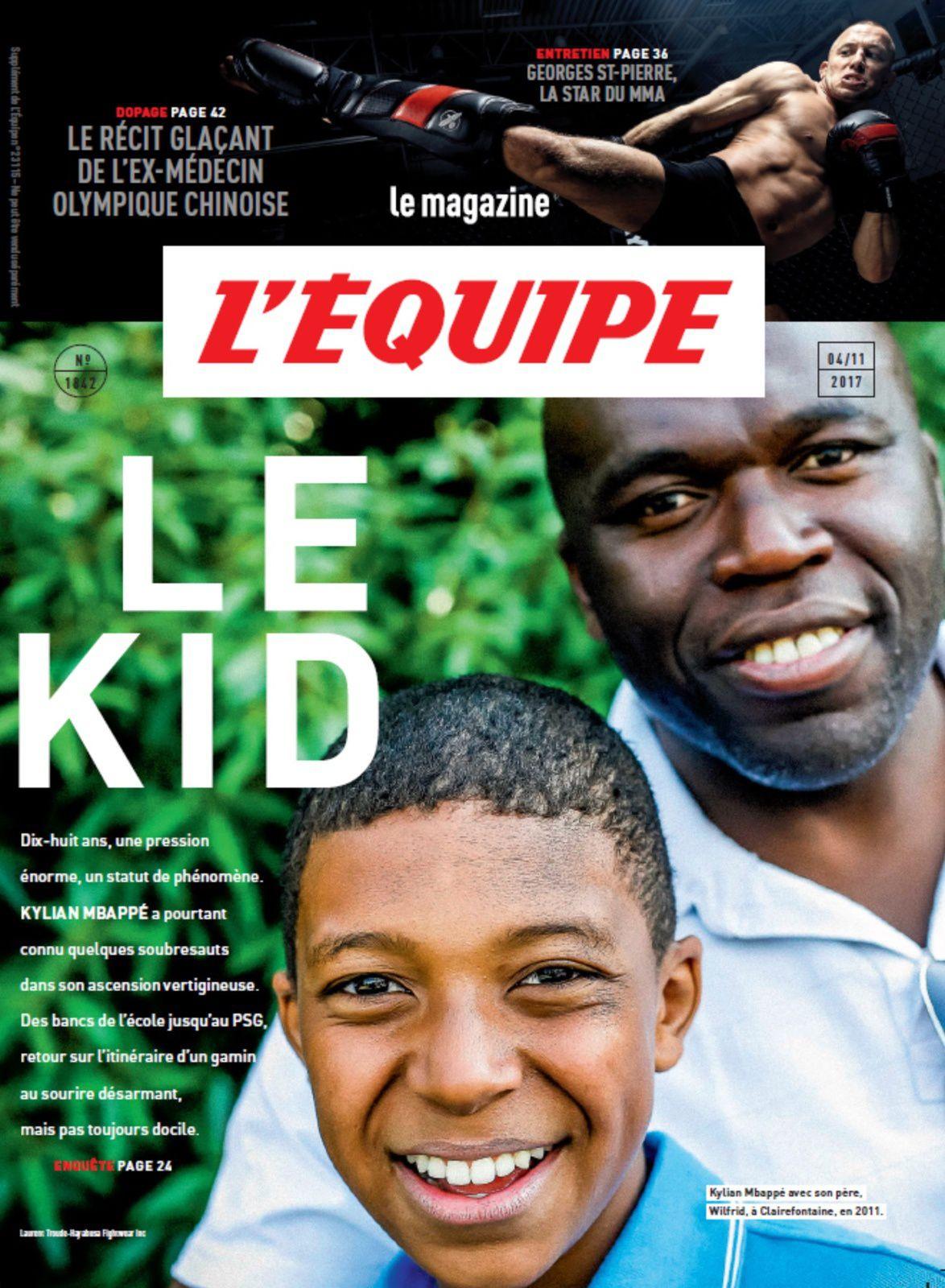 Dix pages sur la trajectoire folle de Kylian Mbappé, ce samedi dans L'Equipe Mag.